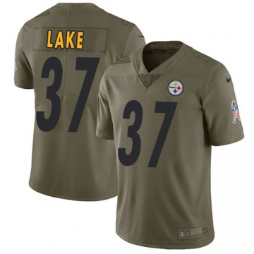 Men's Carnell Lake Pittsburgh Steelers Limited Olive 2017 Salute to Service Jersey