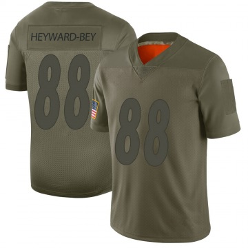 Men's Darrius Heyward-Bey Pittsburgh Steelers Limited Camo 2019 Salute to Service Jersey