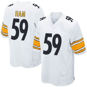 Men's Jack Ham Pittsburgh Steelers Game White Jersey