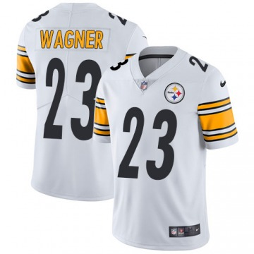 Men's Mike Wagner Pittsburgh Steelers Limited White Jersey