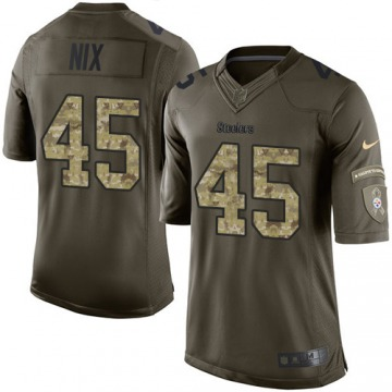 Men's Roosevelt Nix Pittsburgh Steelers Limited Green Salute to Service Jersey