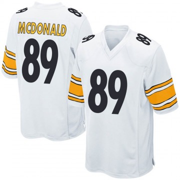 Men's Vance McDonald Pittsburgh Steelers Game White Jersey