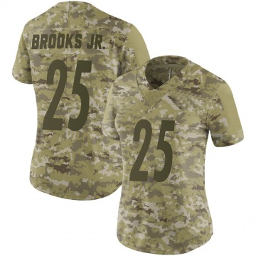 Women's Antoine Brooks Jr. Pittsburgh Steelers Limited Camo 2018 Salute to Service Jersey