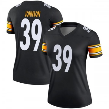 Women's Brandon Johnson Pittsburgh Steelers Legend Black Jersey