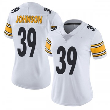 Women's Brandon Johnson Pittsburgh Steelers Limited White Vapor Untouchable Jersey