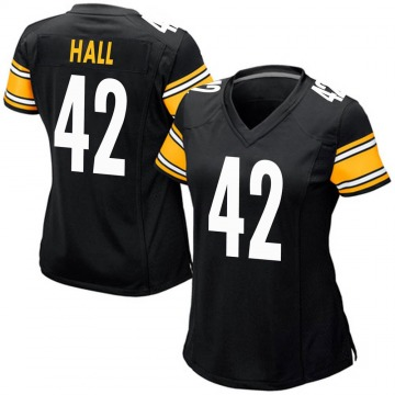 Women's Darrin Hall Pittsburgh Steelers Game Black Team Color Jersey