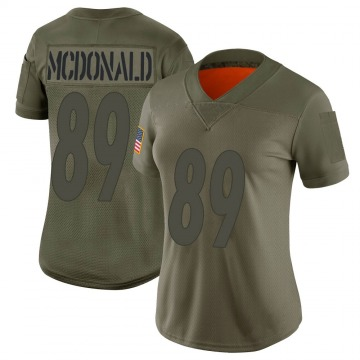 Women's Vance McDonald Pittsburgh Steelers Limited Camo 2019 Salute to Service Jersey