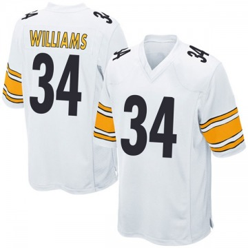 Youth DeAngelo Williams Pittsburgh Steelers Game White Jersey