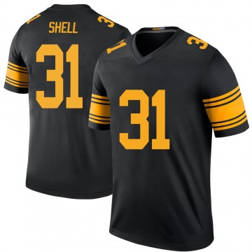 Youth Donnie Shell Pittsburgh Steelers Legend Black Color Rush Jersey