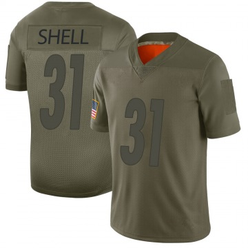 Youth Donnie Shell Pittsburgh Steelers Limited Camo 2019 Salute to Service Jersey