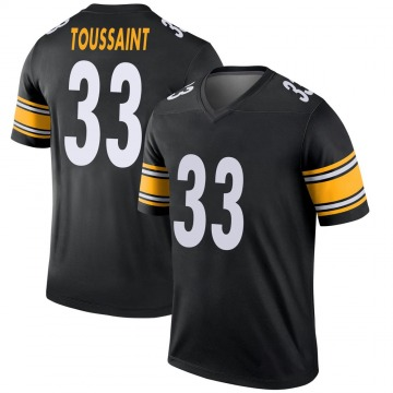 Youth Fitzgerald Toussaint Pittsburgh Steelers Legend Black Jersey