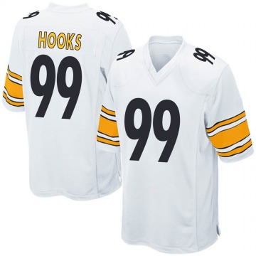 Youth Lavon Hooks Pittsburgh Steelers Game White Jersey