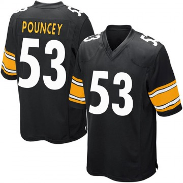 Youth Maurkice Pouncey Pittsburgh Steelers Game Black Team Color Jersey