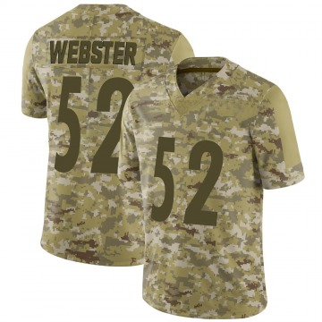 Youth Mike Webster Pittsburgh Steelers Limited Camo 2018 Salute to Service Jersey
