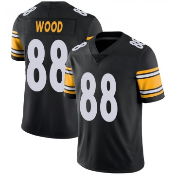 Youth Trevor Wood Pittsburgh Steelers Limited Black Team Color Vapor Untouchable Jersey