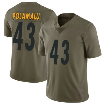 Youth Troy Polamalu Pittsburgh Steelers Limited Green 2017 Salute to Service Jersey